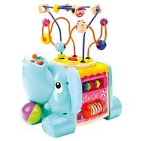 Cub dexteritate Bino Elefant, albastru