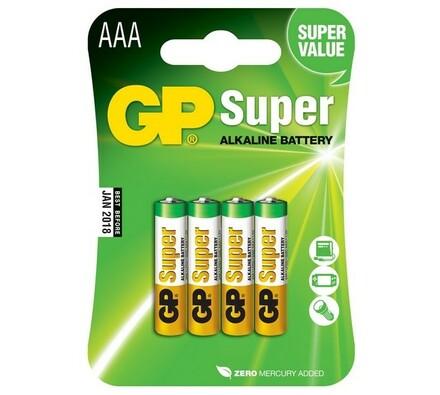 Alkalické mikrotužkové baterie, 4 ks, 24A LR03 Bli