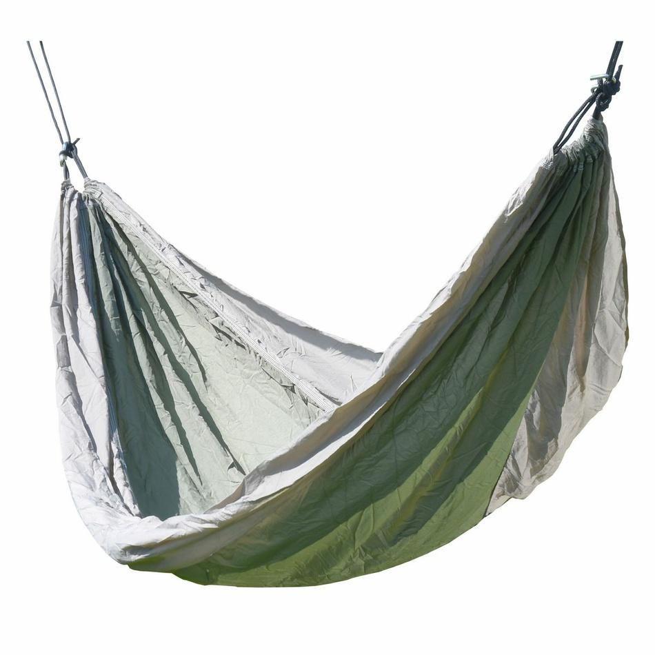 Cattaro Hojdacie závesné lehátko Nylon zelená, 275 x 137 cm