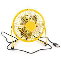 Wiatraczek USB żółty, 13,5 x 11 x 15 cm