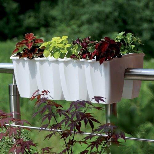 Jardinieră pentru balcon, albă 18 l