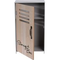 Koopman Dekorační úložná skříňka Workshop šedá, 18 x 32 x 10 cm