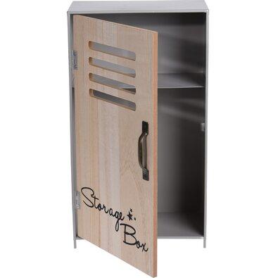 Dekorační úložná skříňka Workshop šedá, 18 x 32 x 10 cm