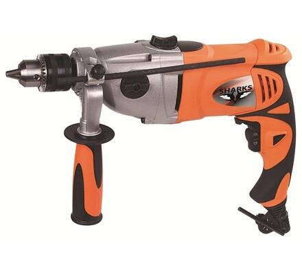 Sharks SH 1010 elektrická příklepová vrtačka oranžová