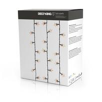 DecoKing Lampki Gwiazdki rozszerzenie ciepła biała, 100 LED