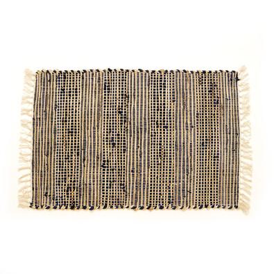 Ručně tkaný koberec Juta tmavě modrá, 60 x 90 cm