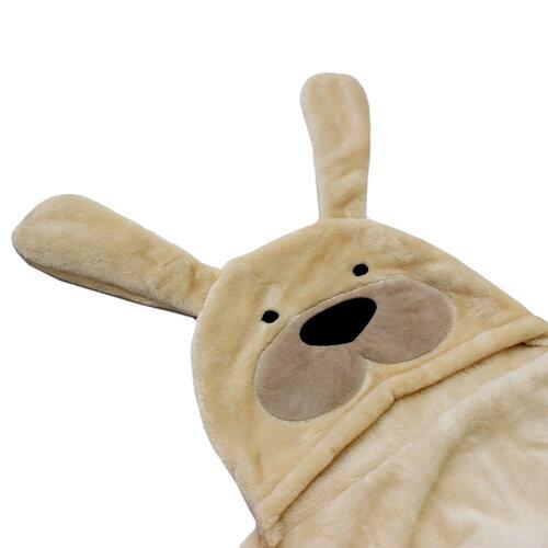 Domarex Dětská deka DOG béžová, 75 x 130 cm