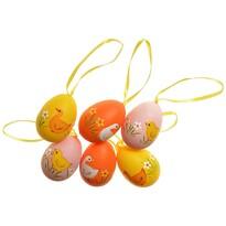 Sada závěsných vajíček 5 cm, 6 ks