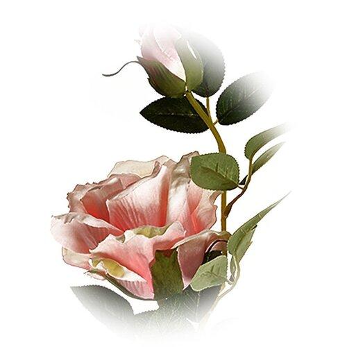 Umelá kvetina Čajová ruža ružová, 47 cm