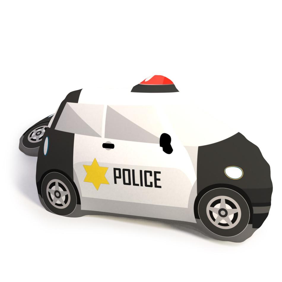 TipTrade Tvarovaný 3D polštářek Policie