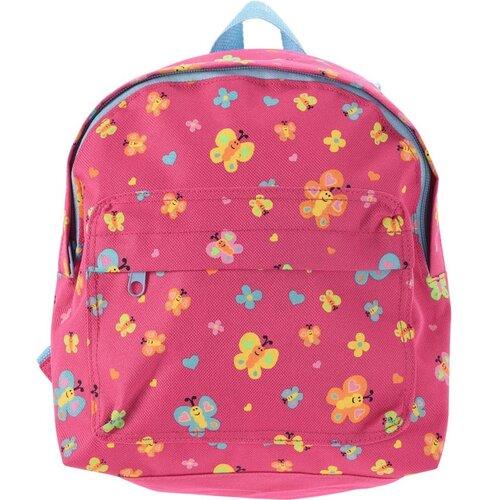 Koopman Dětský batoh Motýlci růžová, 21 x 27 x 8,5 cm