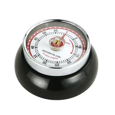Kuchyňská magnetická minutka Speed Retro 7 x 3 cm, černá