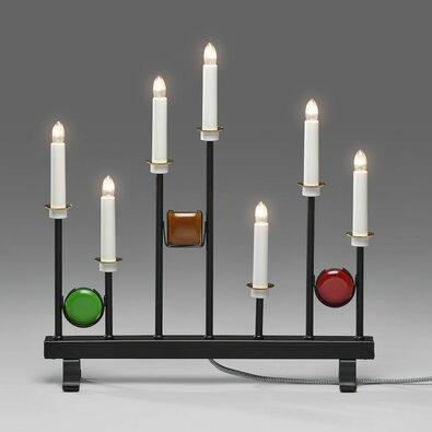 Kovový svícen Dekor 7 x 24 V, černá