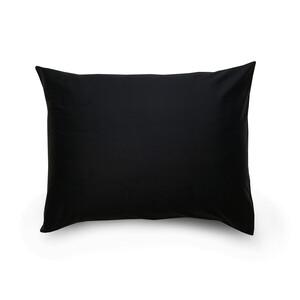 Povlak na polštář satén černá / bílá, 70 x 90 cm