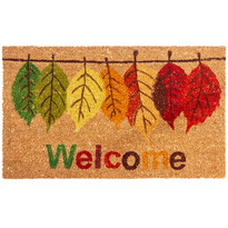 Kokosová rohožka Welcome Leaf, 43 x 73 cm