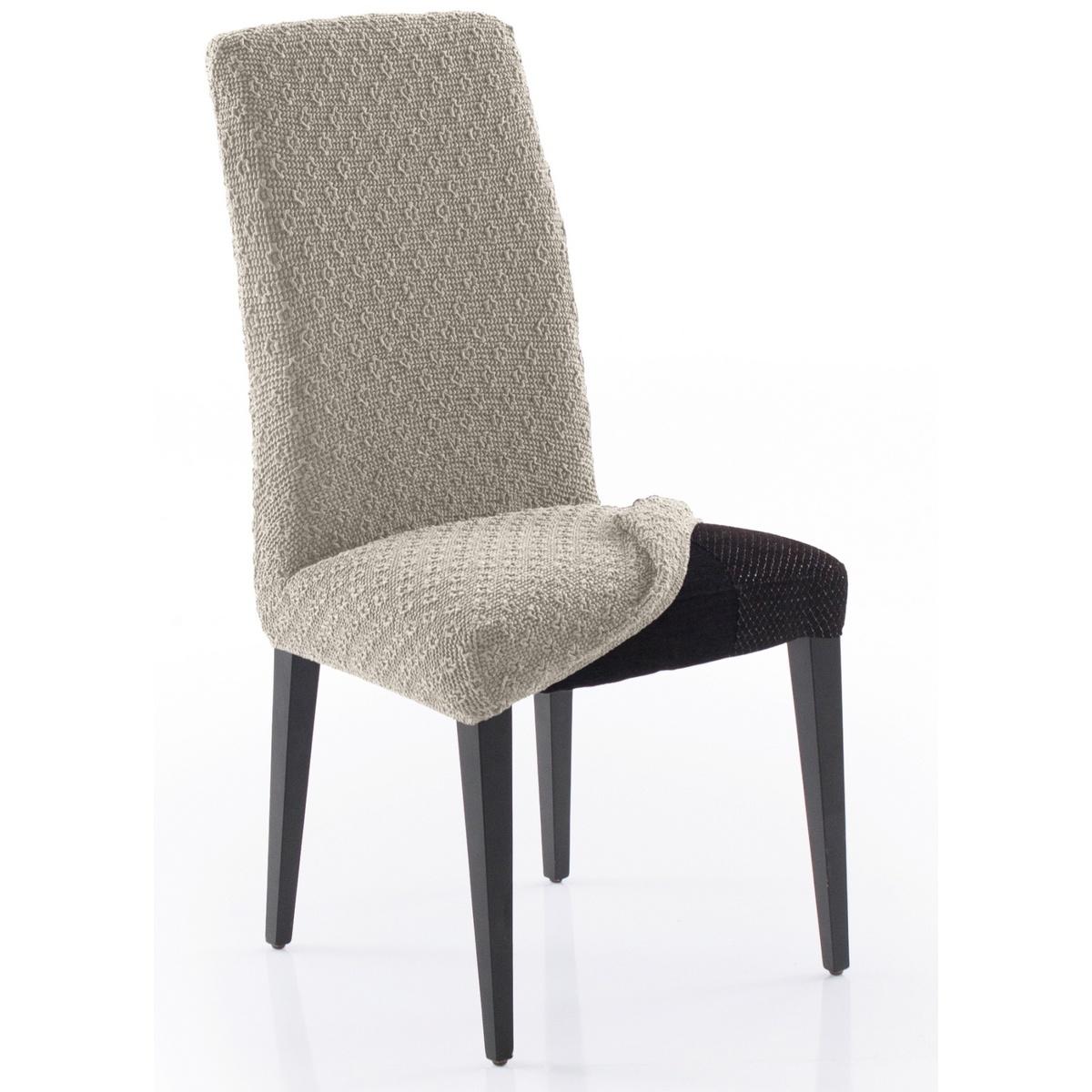 Forbyt Multielastický potah na celou židli Martin béžová , 60 x 50 x 60 cm, sada 2 ks