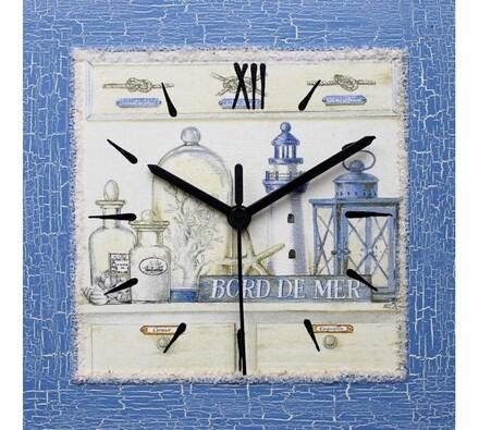 Dekorativní nástěnné hodiny Modré zátiší