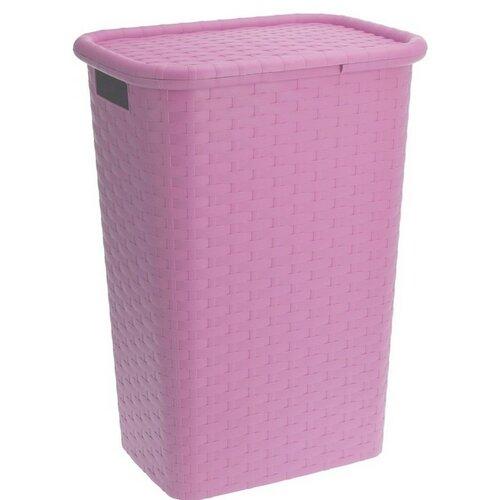 Coș de rufe 60 l, roz