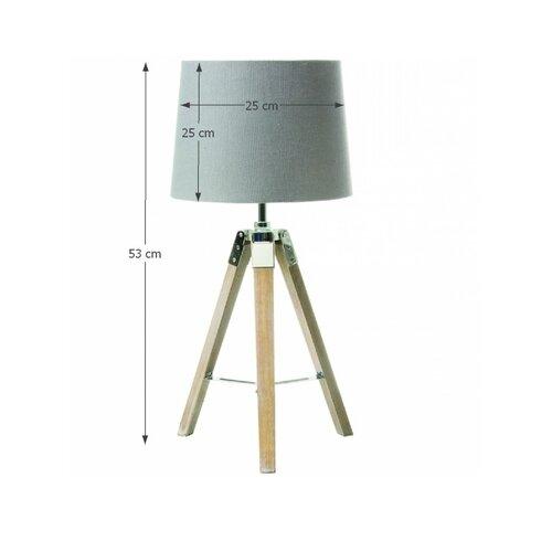 Stolní lampa Jade 2, šedá