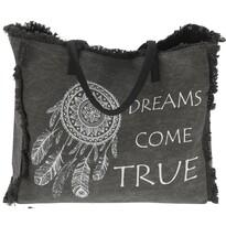 Plážová taška Dreams come true, sivá