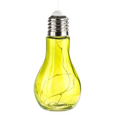 LED lampa Bulb, zelená