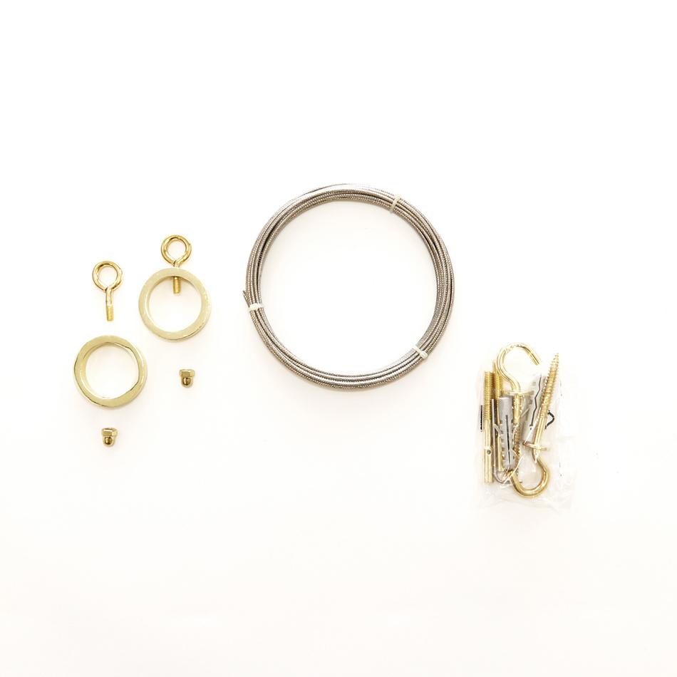 Gardinia Napínací lanková souprava Ring zlatá, 5 m,