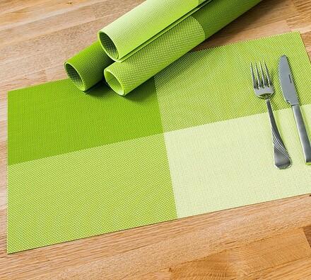 Suport farfurie DeLuxe, verde, 30 x 45 cm, set 4 buc.