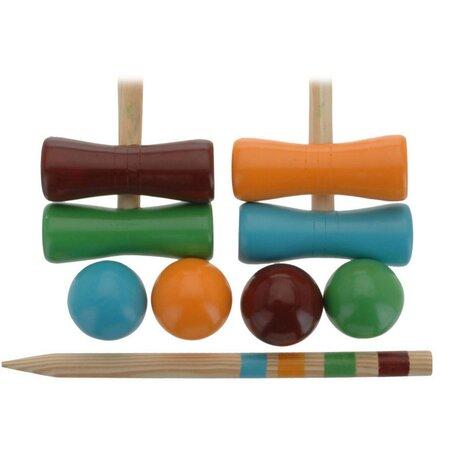 Koopman Dětská kroketová sada pro 4 hráče, 9 ks