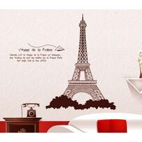 Öntapadós falmatrica Eiffel-torony barna