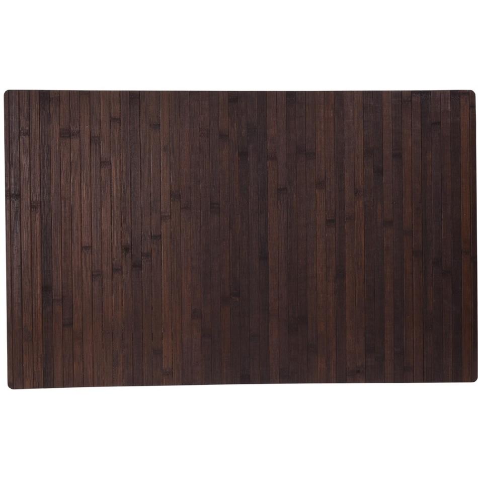Koupelnová předložka Bamboo, tmavě hnědá