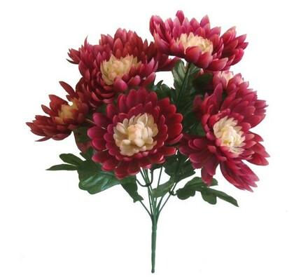 Umělá kytice chryzantém