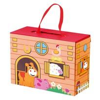 Bino Farm kofferben, 28 x 24 x 11 cm