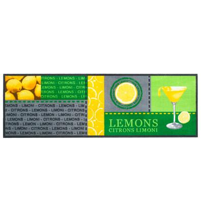 Vnitřní kuchyňská rohožka Lemons, 50x150 cm