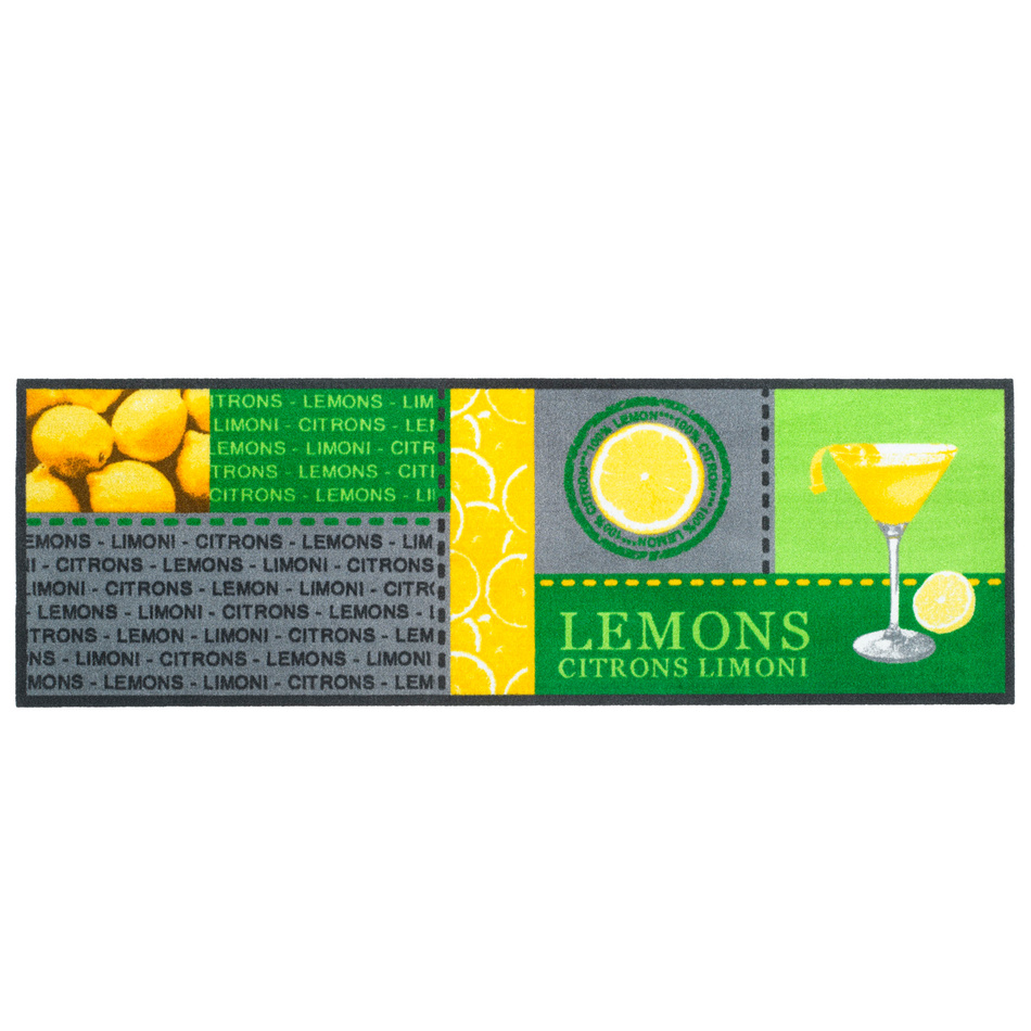 Vopi vnútorná kuchynská rohožka Lemons, 50x150 cm