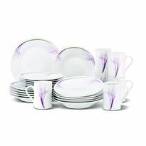 Set de masă Cento Violet, 24 piese