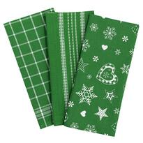 Vianočná utierka zelená, 45 x 70 cm, sada 3 ks
