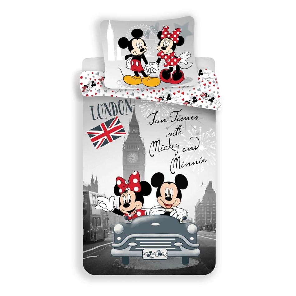 Jerry Fabrics Dětské bavlněné povlečení Mickey & Minnie In Love, 140 x 200 cm, 70 x 90 cm