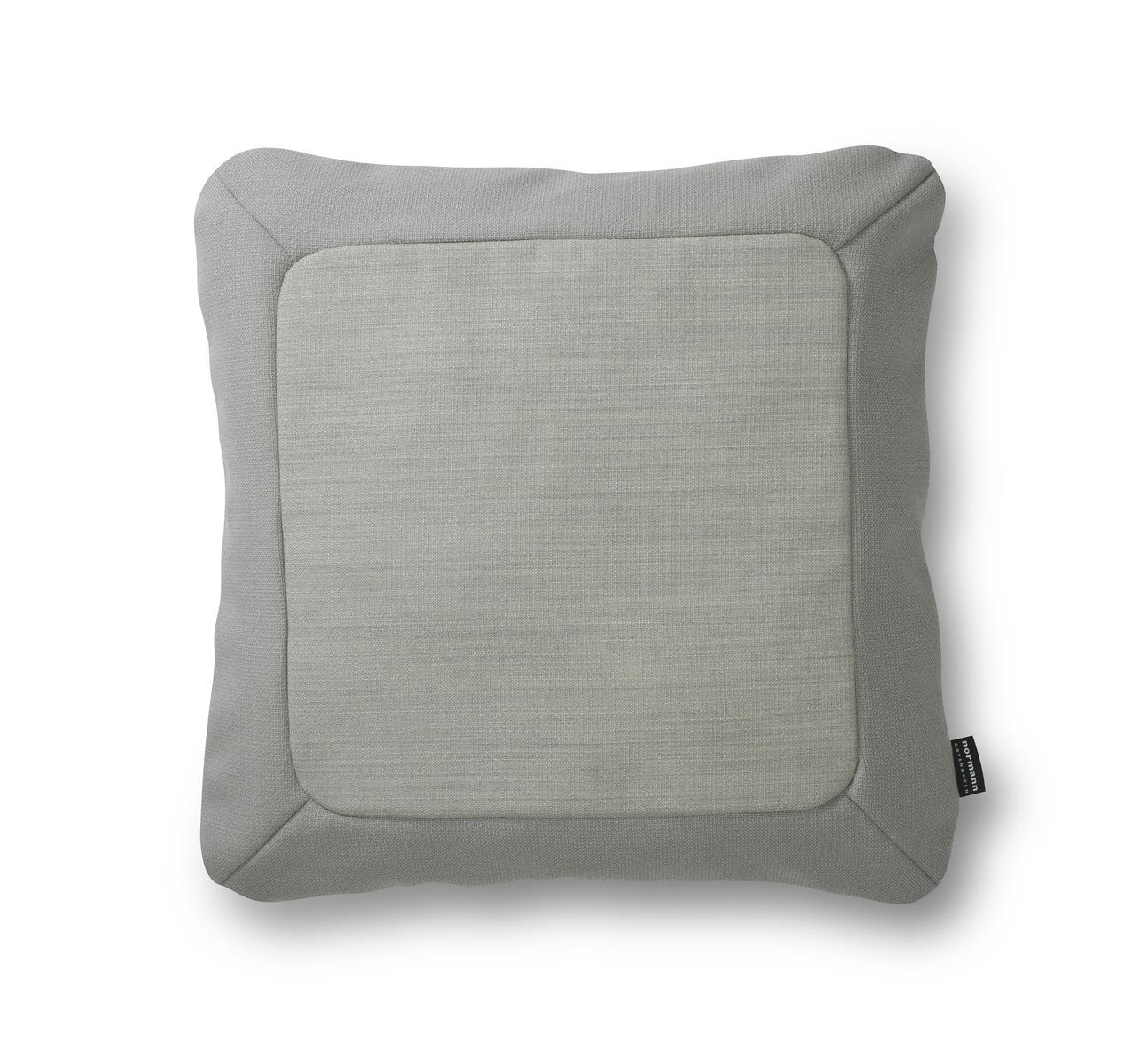 Normann Coppenhagen Polštářek Frame 50 x 50 cm, měkce šedý
