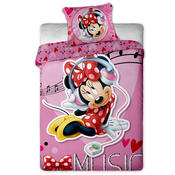 Dětské povlečení Minnie Music micro, 140 x 200 cm, 70 x 90 cm
