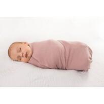 Rożek niemowlęcy różowy, 80 x 120 cm