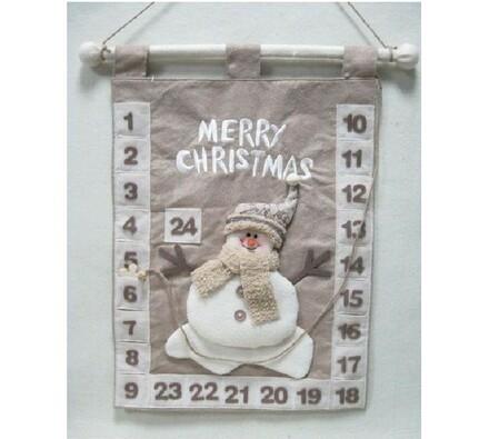 Textilní adventní kalendář Sněhulák