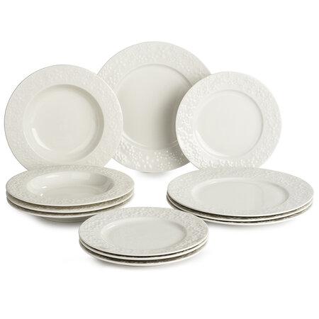 Banquet Blanche súprava tanierov, 12 ks