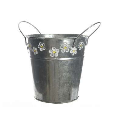 Ghiveci de flori din zinc Flowers 16 cm