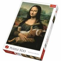 Trefl Puzzle Mona Lisa s kočkou, 500 dílků