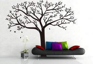 Stickere decorative XXL copacul de familie negru