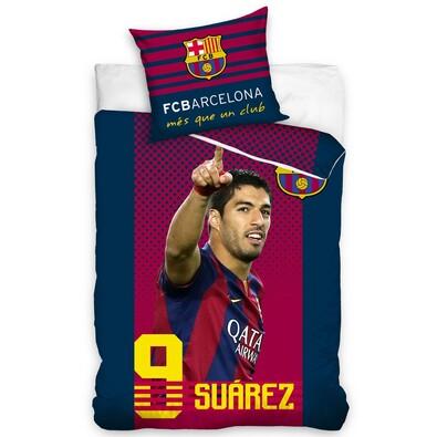 Bavlněné povlečení FC Barcelona Suarez, 160 x 200 cm, 70 x 80 cm