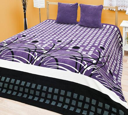 Prehoz na posteľ Violet, 220 x 240 cm, fialová