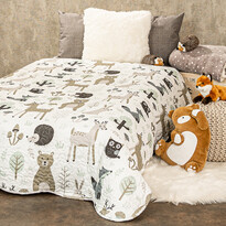 4home Detský prehoz na posteľ Nordic Friends, 140 x 200 cm