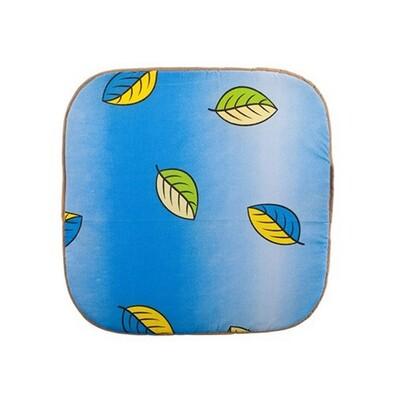 Podsedák zahradní 37 x 110 x 2 cm, listí, modrá