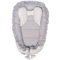 Belisima Luxusní hnízdečko pro miminko, bílo-šedá